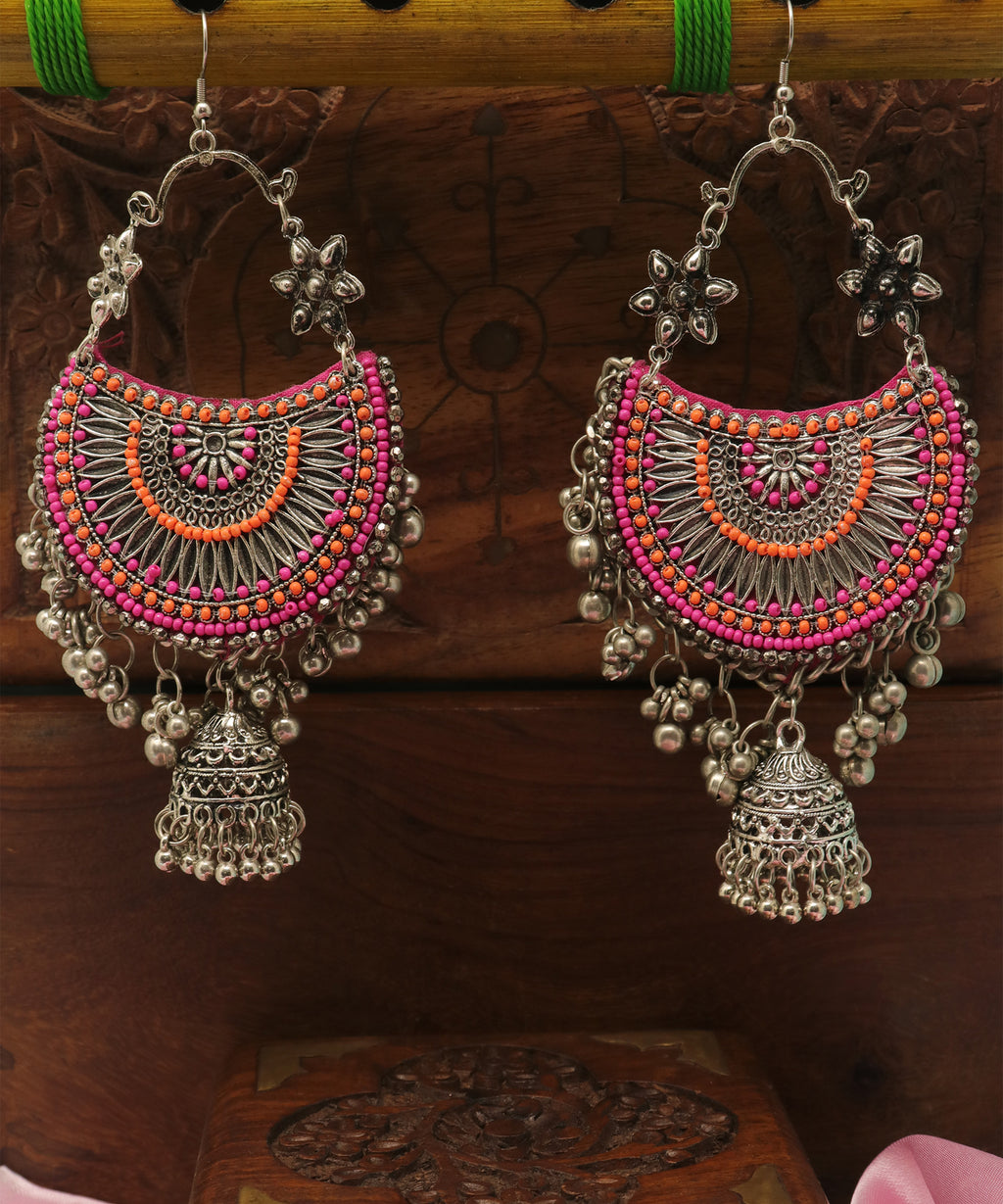 Boho Beaded Tribal Jhumka