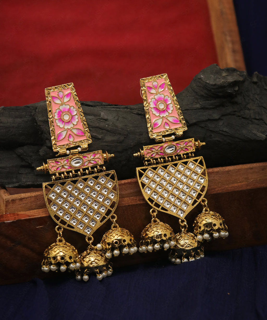 Antique Kundan Jhumka