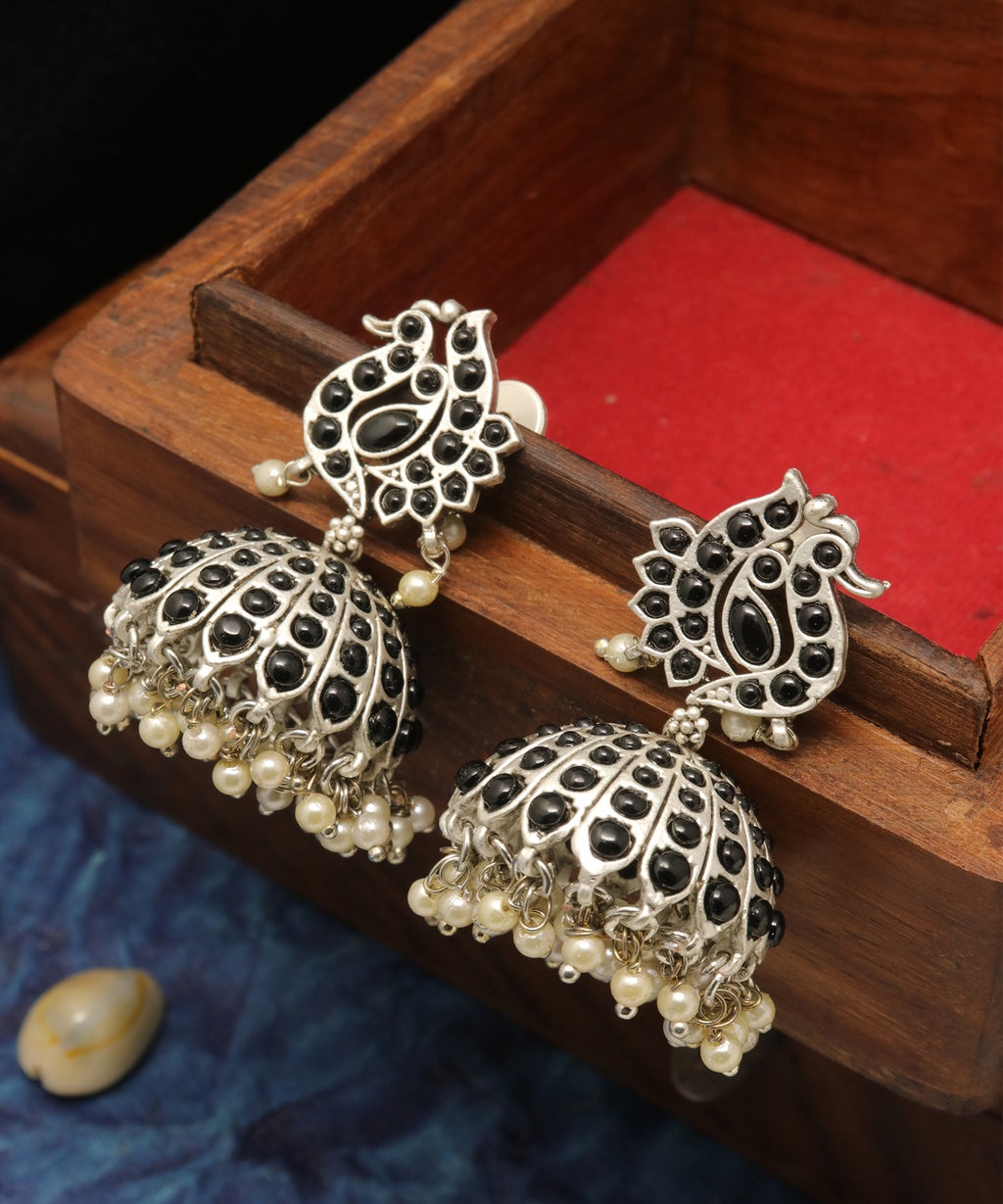 Oxidised Traditional Jhumka