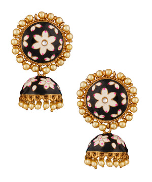 Black Enamelled Jhumka
