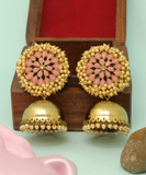 Antique Dome Floral Jhumka