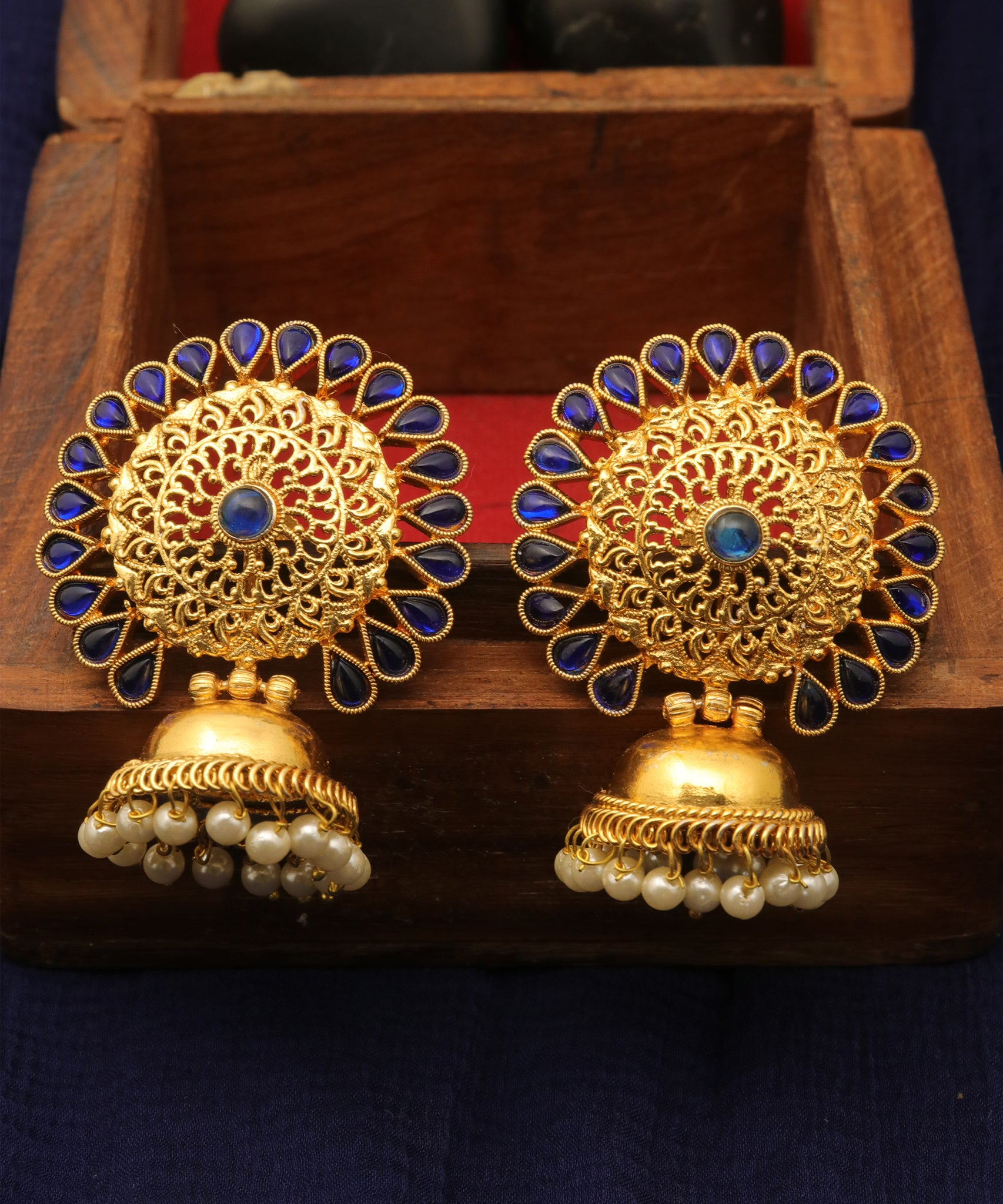 Antique Floral Jhumka