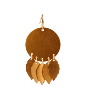 Gold Dangle Leaves