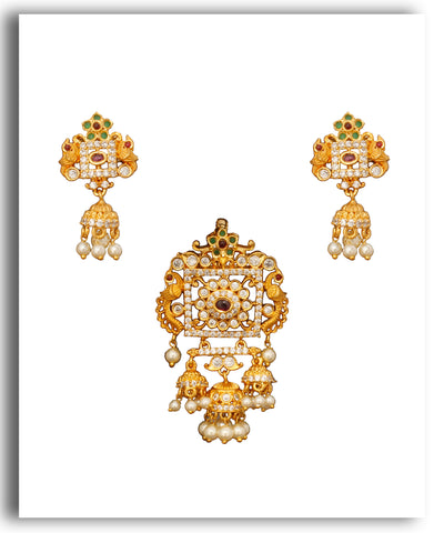 Floral Jhumka Pendent