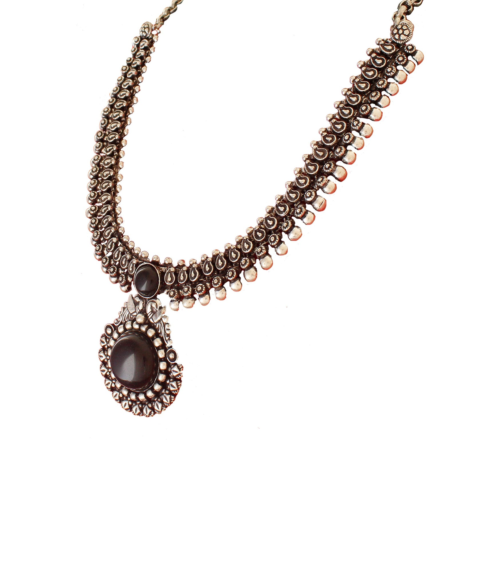 Oxidized Black Beaded Set