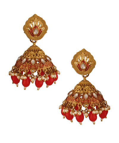 Red Cone Jhumka