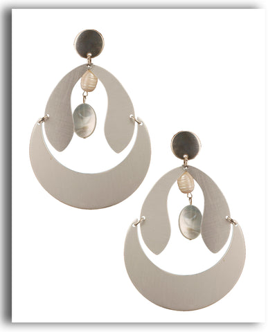 Silver Curved Dangledrop