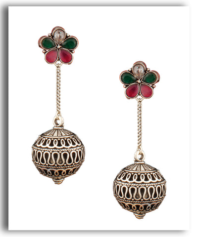 Green Floral Dangledrop