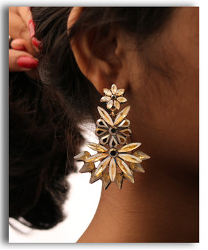 Gold Spiked Drop Earring