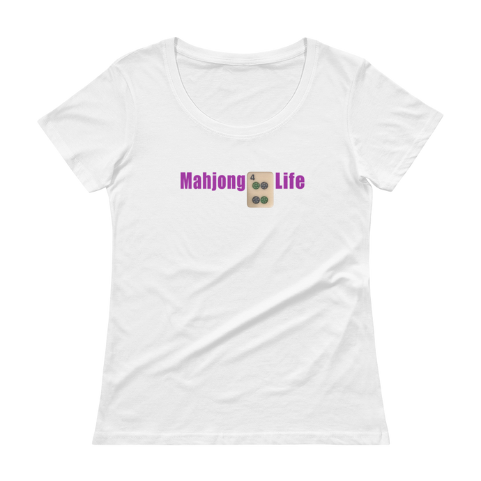 Ladies' Scoopneck Mahjong 4 Life T