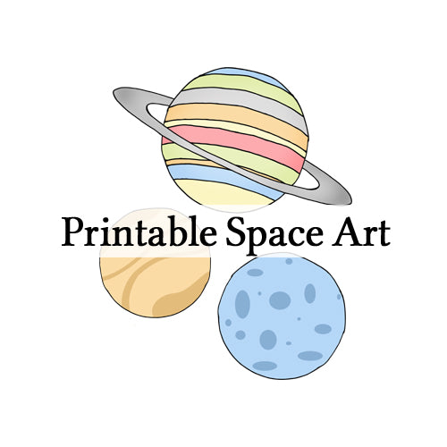 Printable Space Wall Art