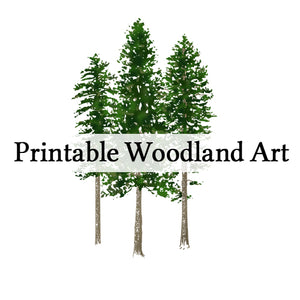 Printable woodland art