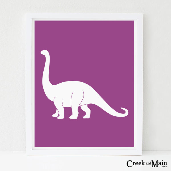 Apatosaurus wall art, nursery art