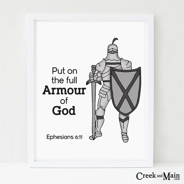 bible verse nursery art, Armour of God
