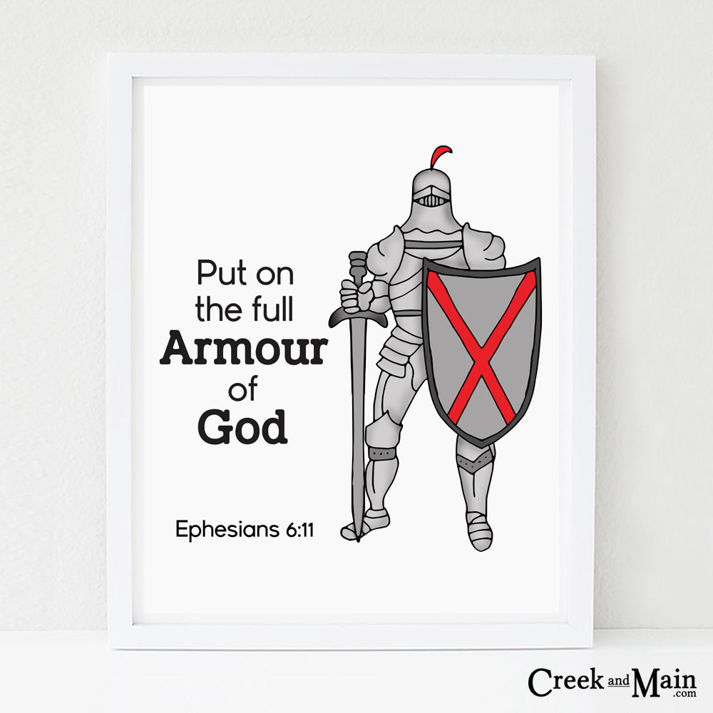 Armour of God Bible Verse wall art