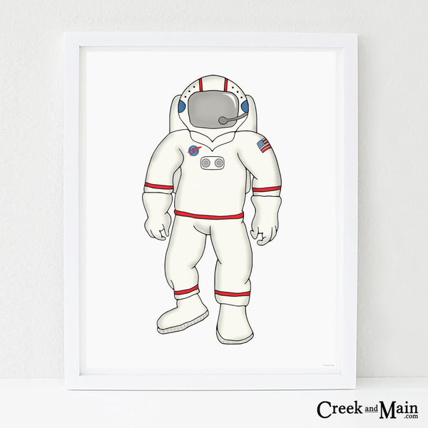 printable space wall art, nursery decor