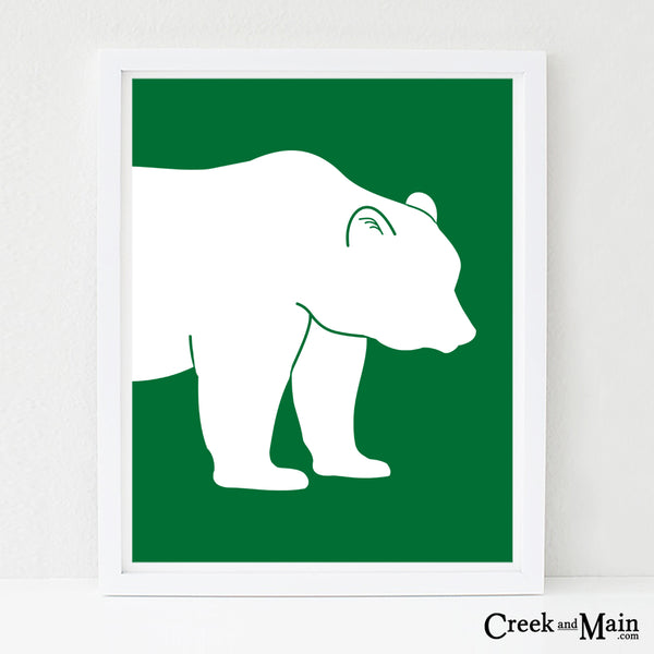 bear nursery art, woodland animal print