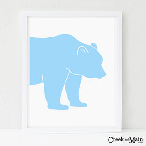 kids bear wall art, woodland decor