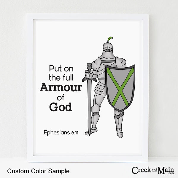 Armour of God nursery art, kids bible verse