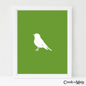woodland nursery, printable bird wall art