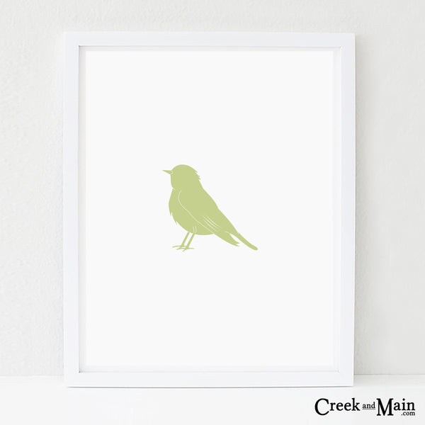 printable bird nursery art, woodland decor
