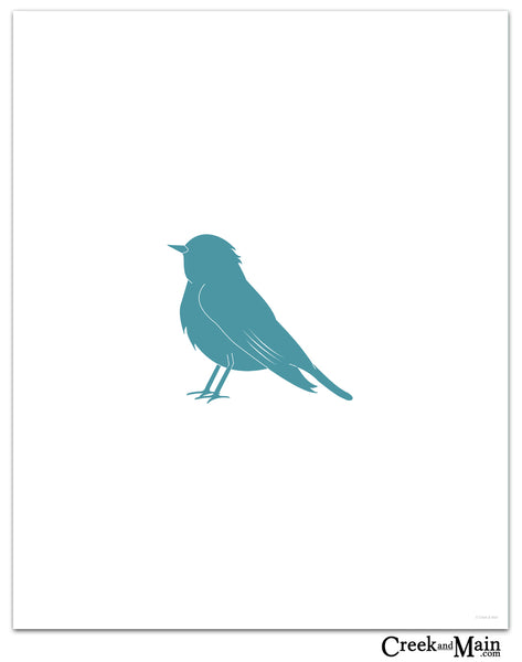 bird decor, wall art print