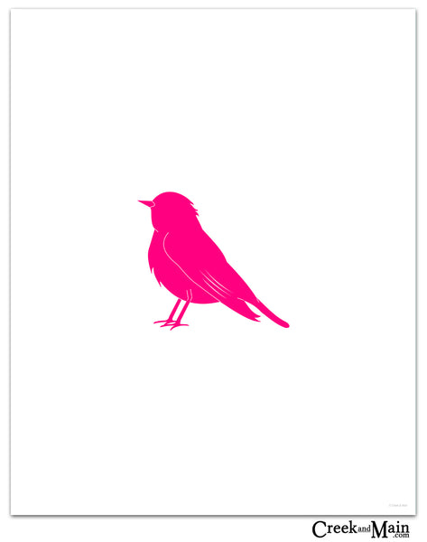 bird art print, woodland decor