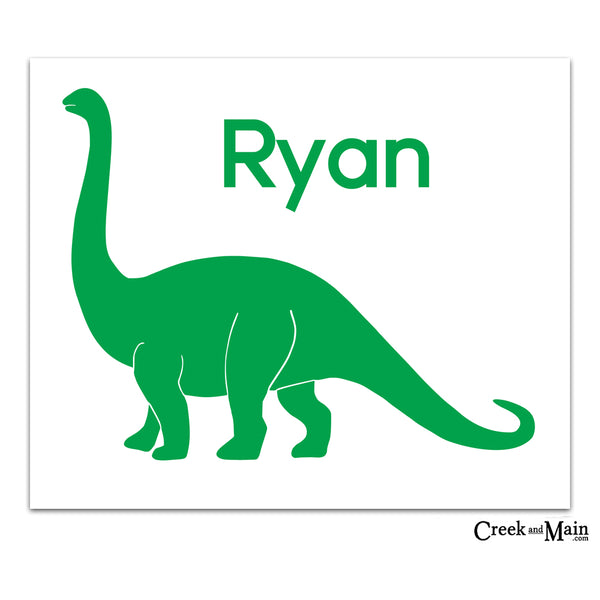 personalized dinosaur art, nursery decor