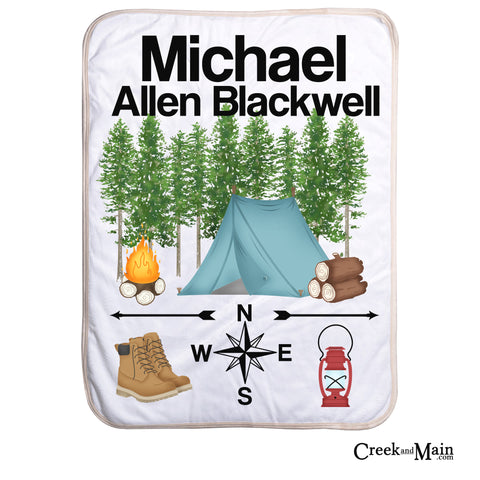 Personalized Camping Blanket