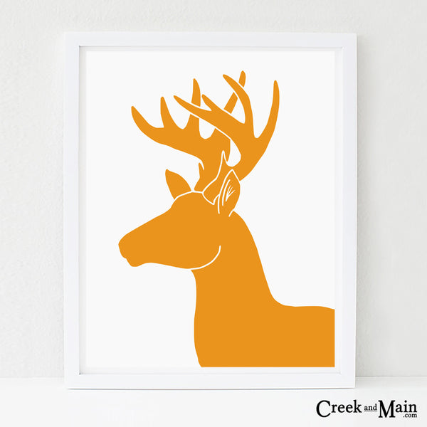 kids deer wall art, woodland decor