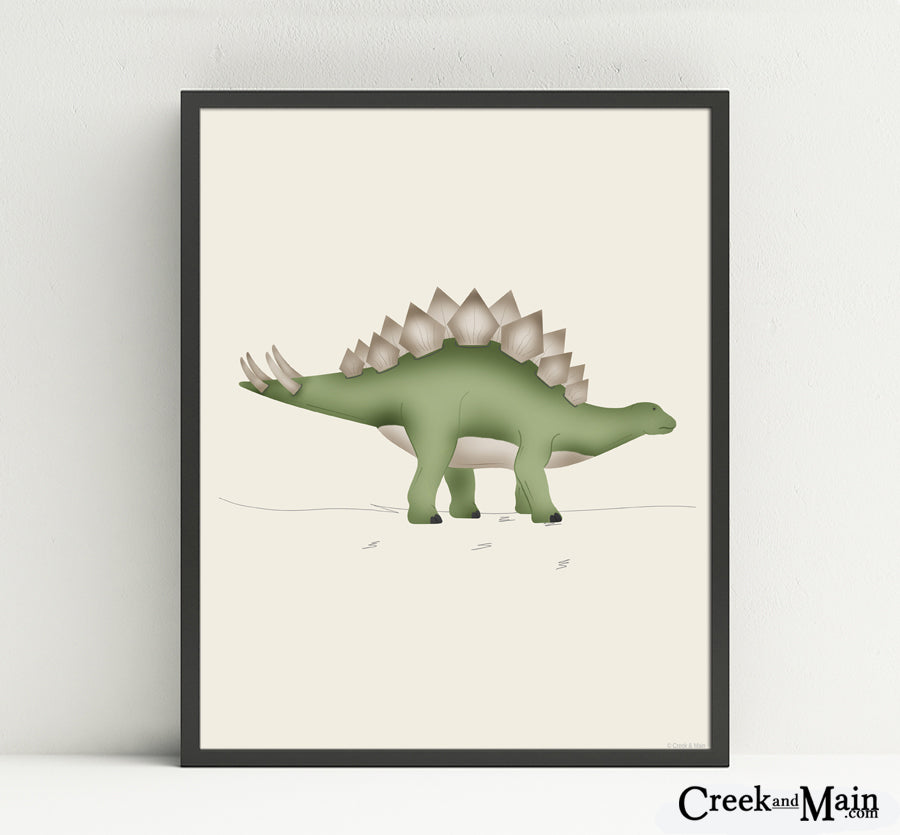 printable dinosaur nursery art, kids wall art, Stegosaurus