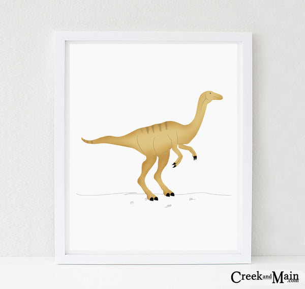 Dinosaur wall art, Gallimimus