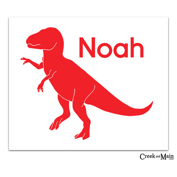 dinosaur nursery decor, custom name print