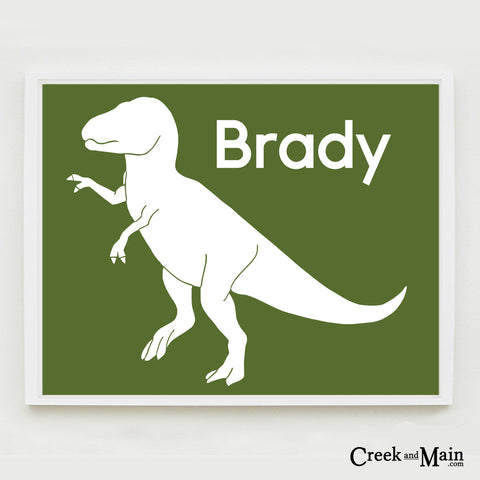 dinosaur nursery, T Rex wall art