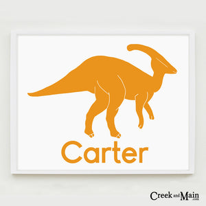 Dinosaur nursery art, personalized wall art