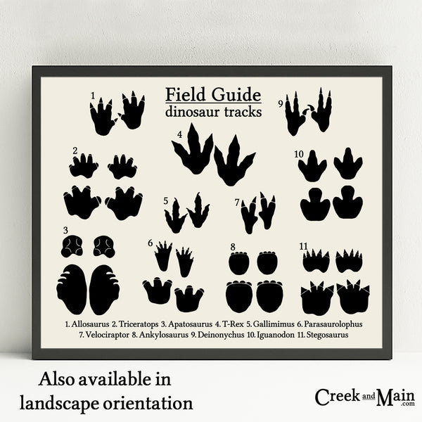 dinosaur nursery decor, dinosaur tracks