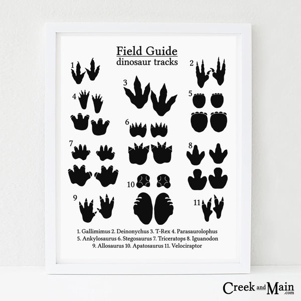 dinosaur nursery art, dinosaur footprints