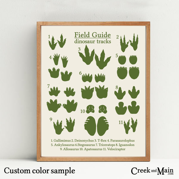 dinosaur footprints, kids nursery wall art
