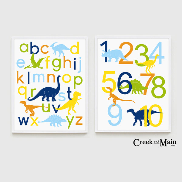 dinosaur nursery decor, wall art