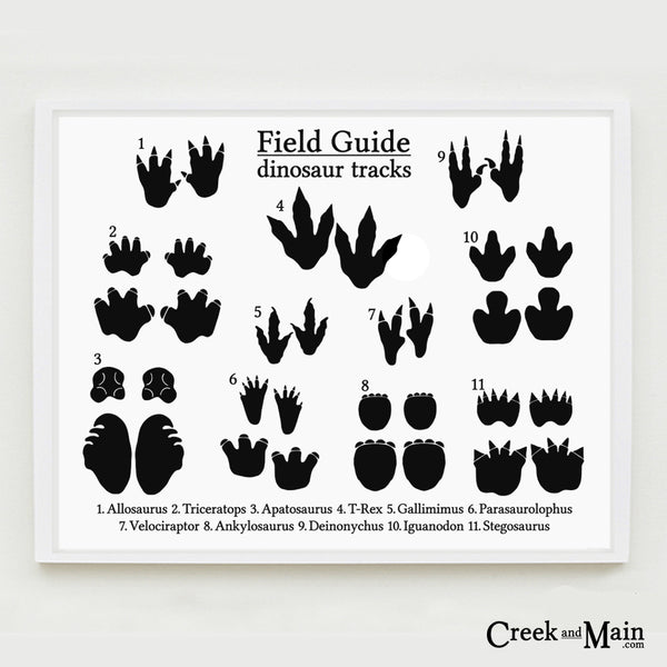 printable nursery art, dinosaur tracks