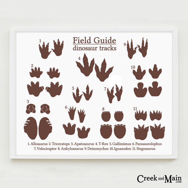 dinosaur nursery decor, printable dinosaur tracks