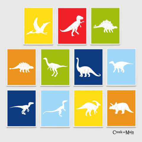 Dinosaur wall art, kids nursery decor