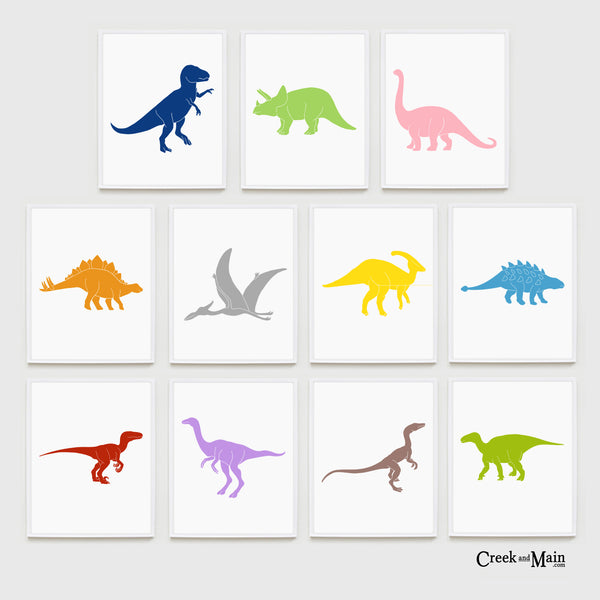 Dinosaur nursery wall art, kids dinosaur bedroom
