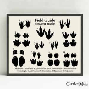 Dinosaur tracks wall art, dinosaur nursery decor
