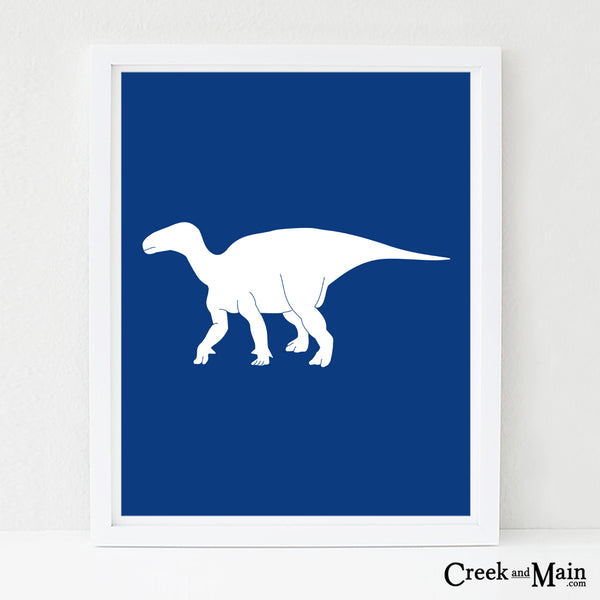 Iguanodon wall art, nursery art