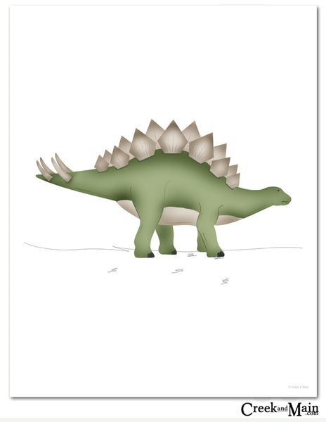 Printable, kids dinosaur bedroom decor, Stegosaurus