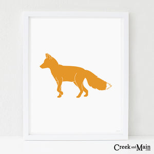 Printable fox nursery art, woodland decor
