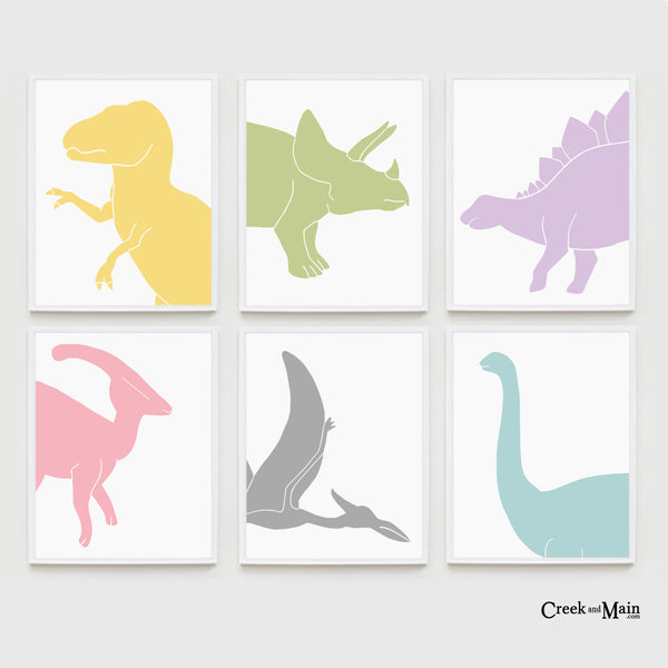 Printable Kids Dinosaur Nursery Art