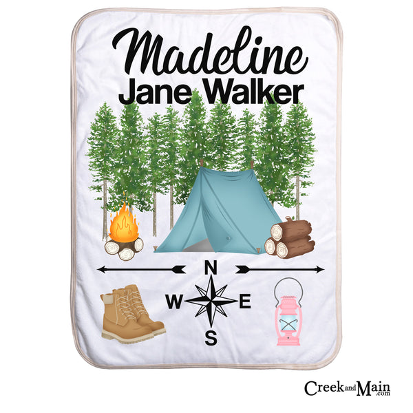 Personalized baby blanket, camping throw blanket