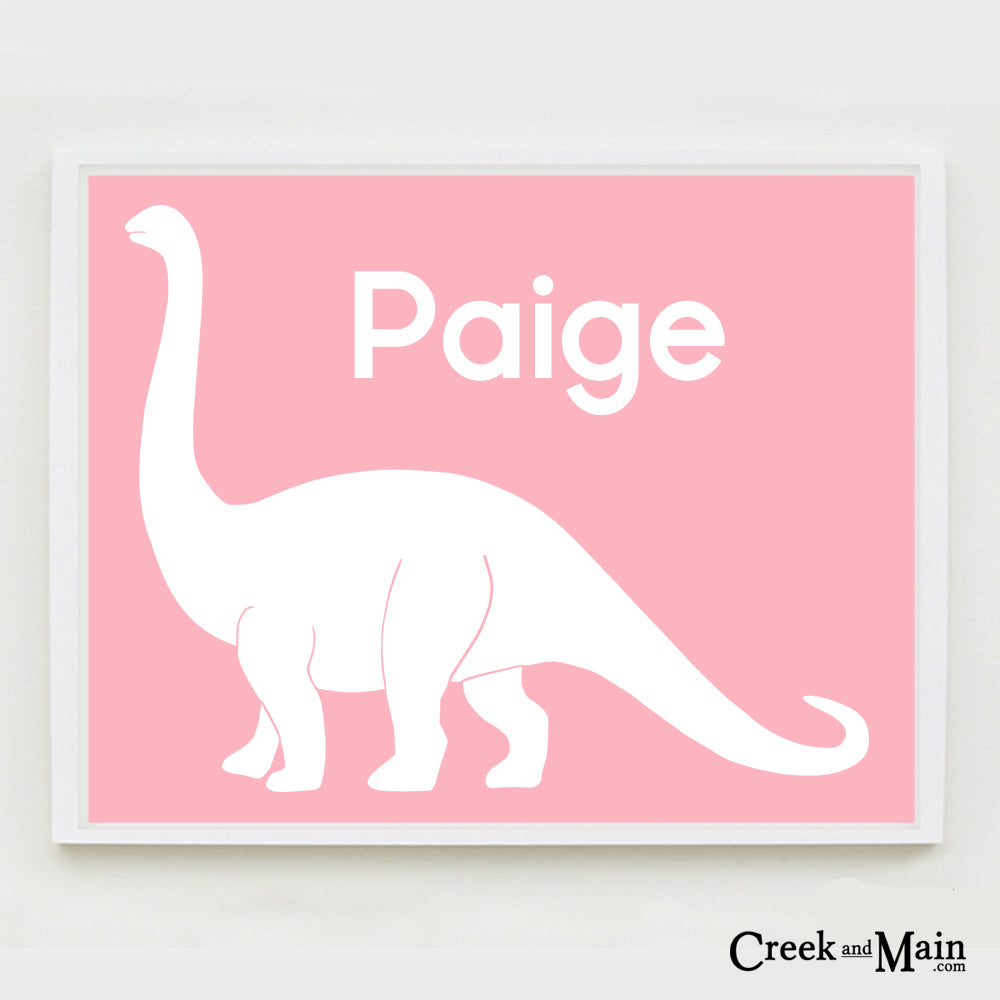 girls dinosaur nursery art, printable